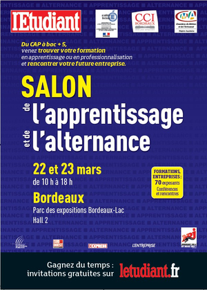 Salon de l 39 alternance de bordeaux 22 et 23 mars iut de for Salon de l apprentissage et de l alternance